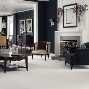 White Carpet in Living room | Signature Flooring, Inc