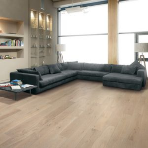 Modern living rom with vinyl flooring | Signature Flooring, Inc