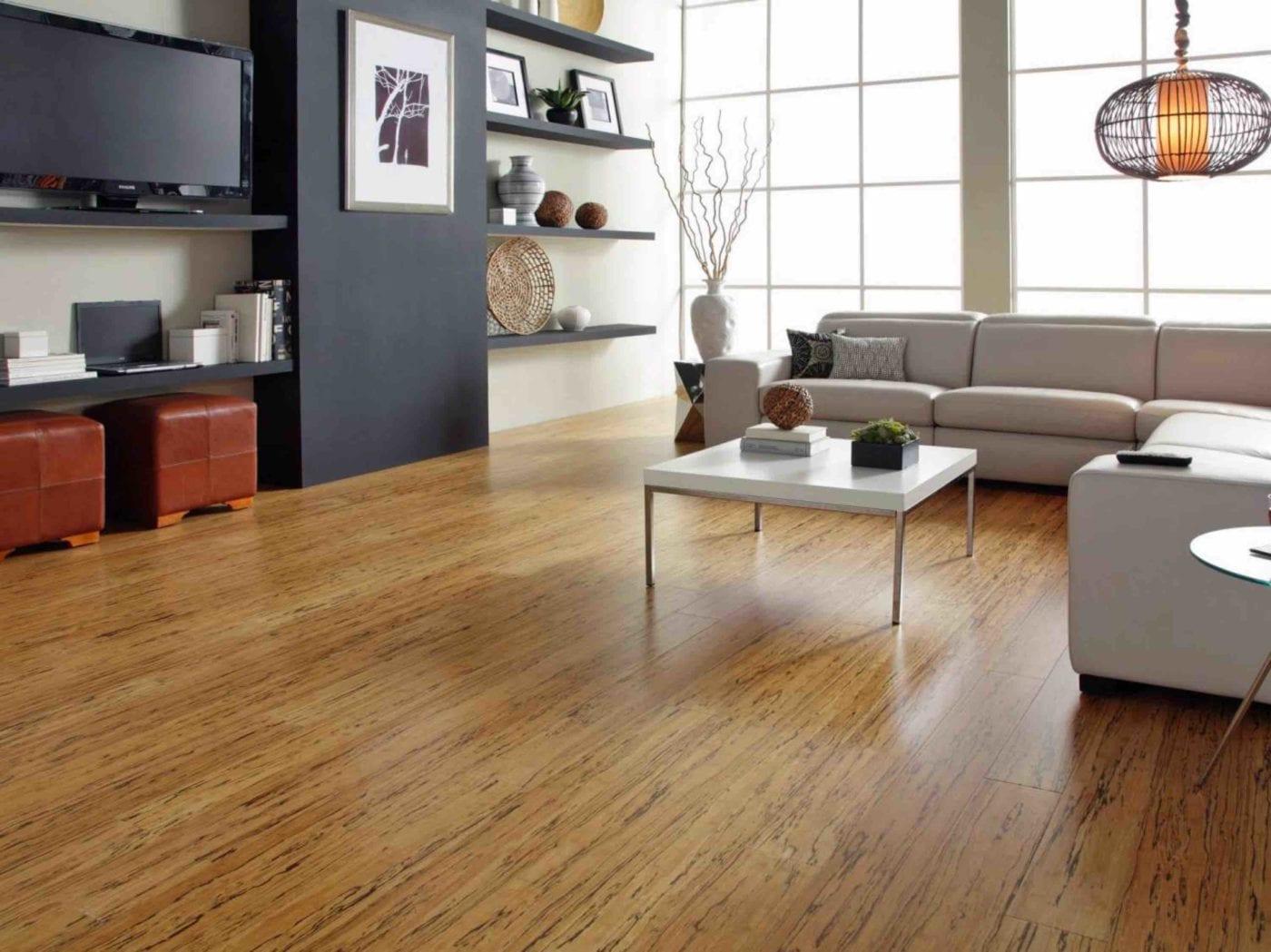 Bamboo Flooring in Living Room | Signature Flooring, Inc